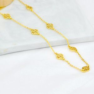 Tory Burch Exquisite Logo Pearl Necklace